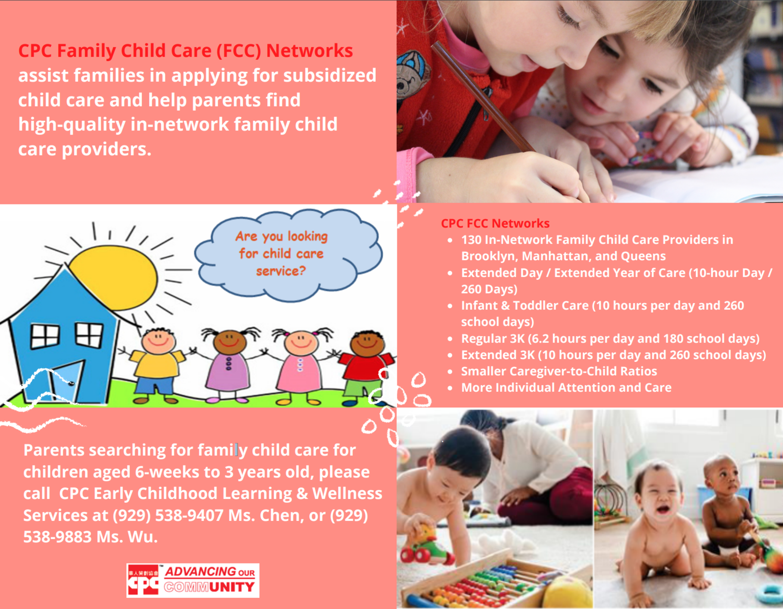 Family Child Care Network Flyer in English