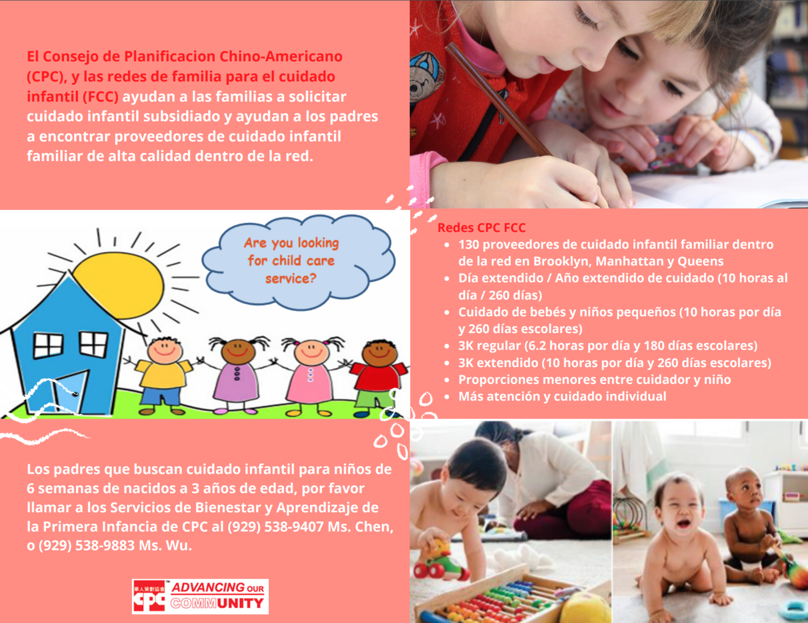 Family Child Care Network Flyer in Spanish