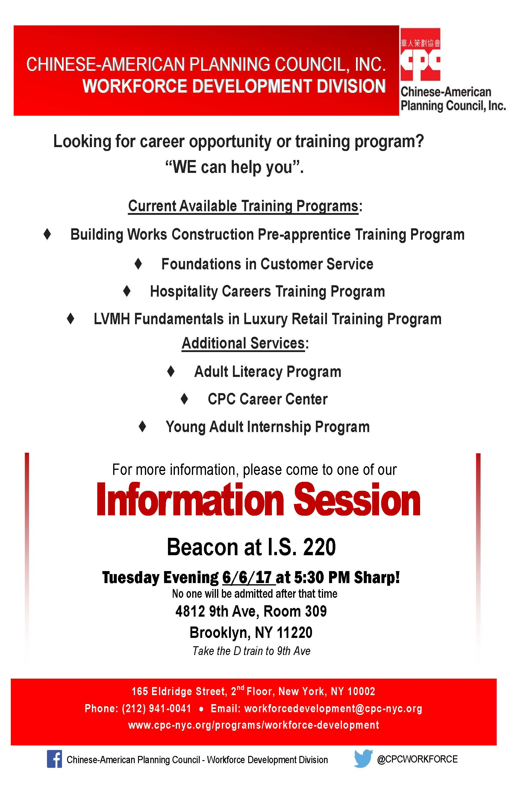 Evening Information Session Event with Beacon Program Lead