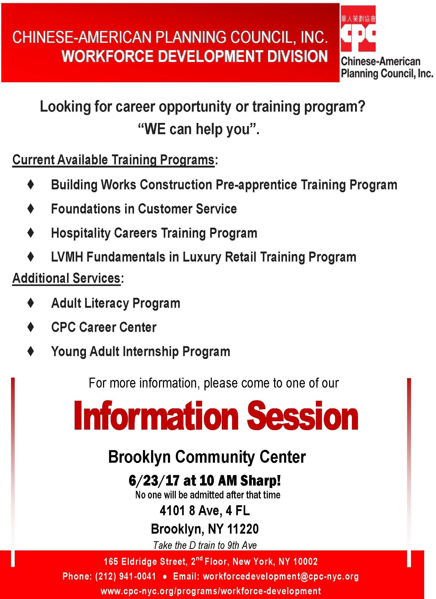 All Services Information Session in Brooklyn