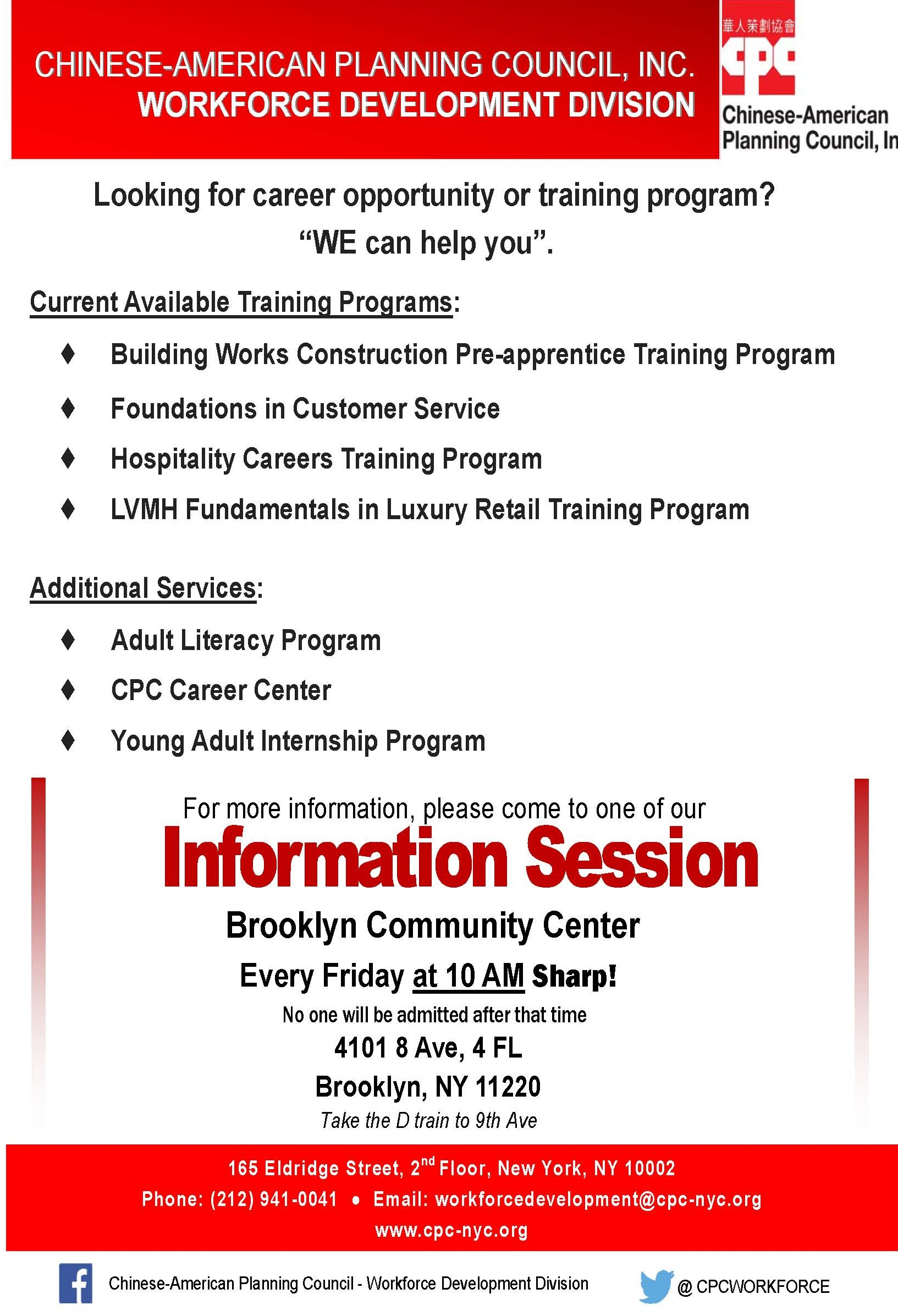 Workforce Development Division Brooklyn Information Session