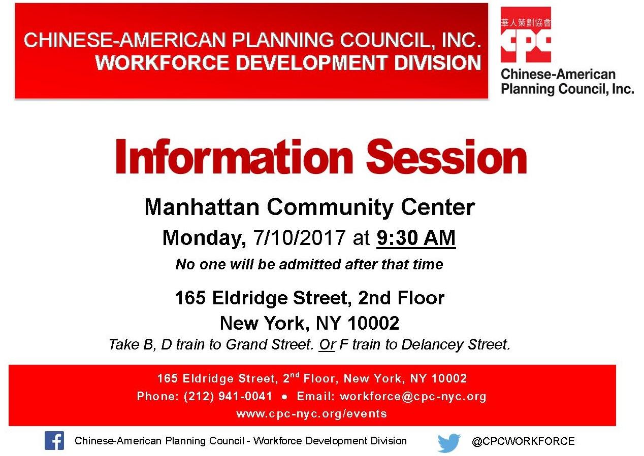 Workforce Development Division Manhattan Information Session All Services