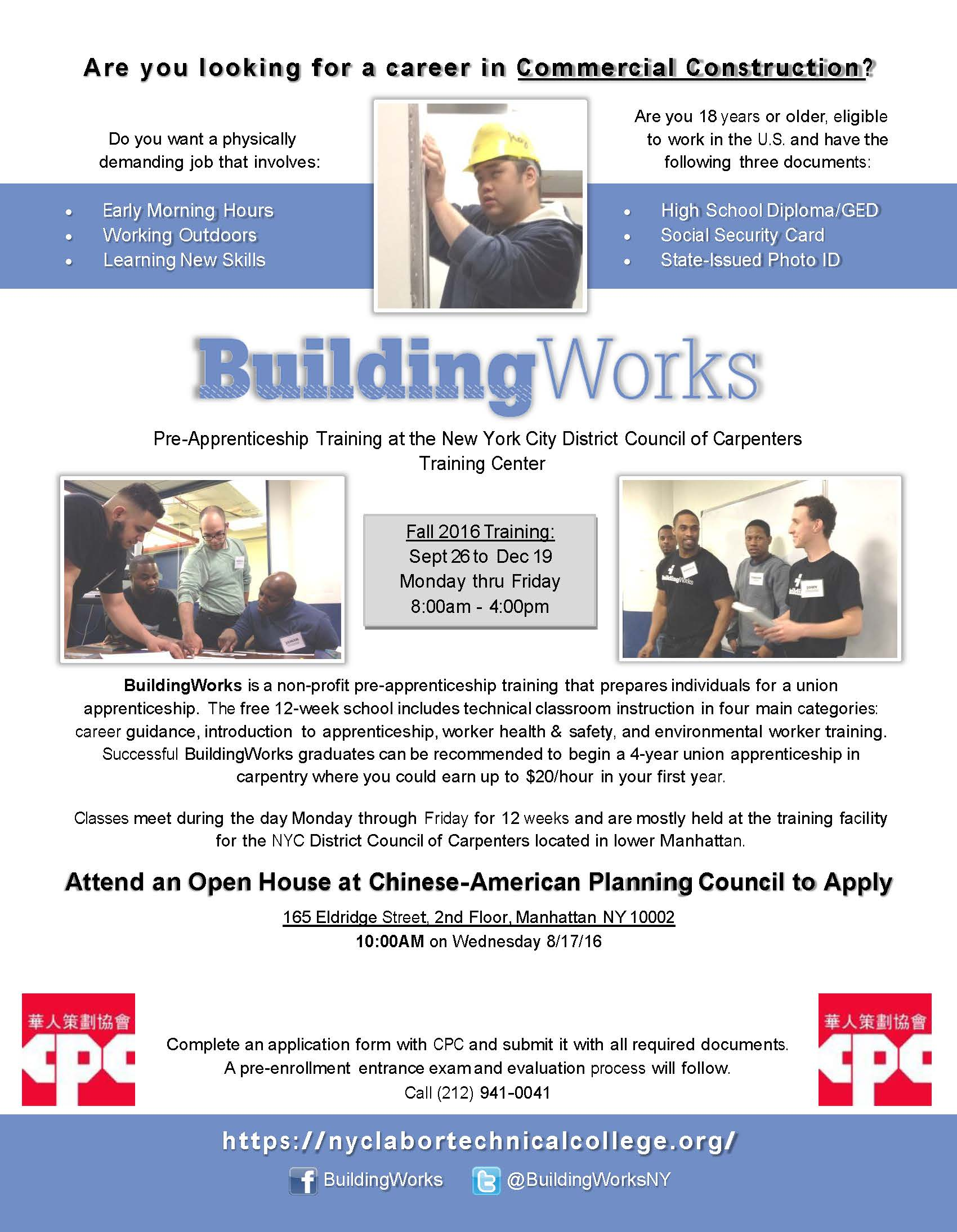 Buildingworks pre apprenticeship training program recruitment buildingworks pre apprenticeship training program recruitment falaconquin