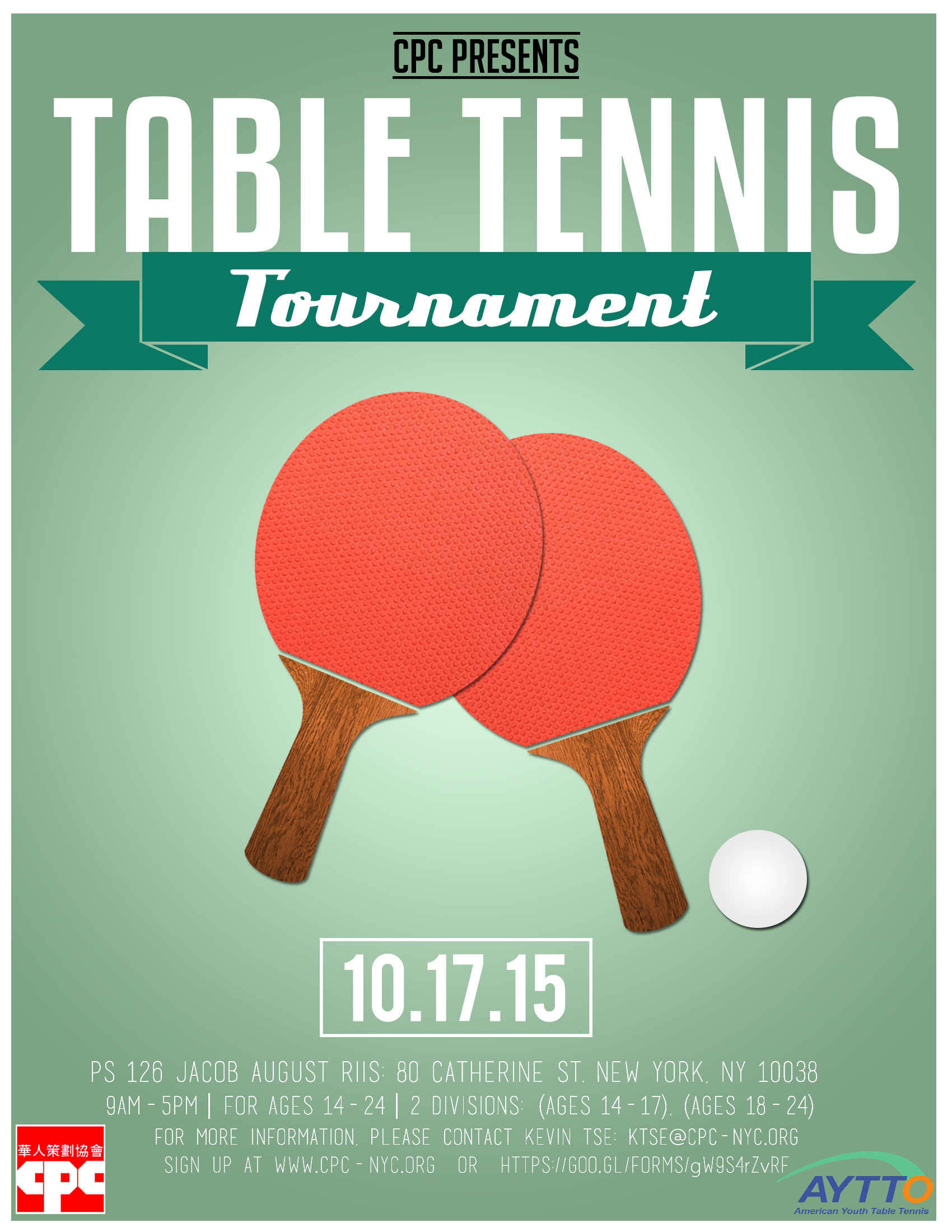 Youth table tennis tournament chinese american planning for Table tennis tournament template