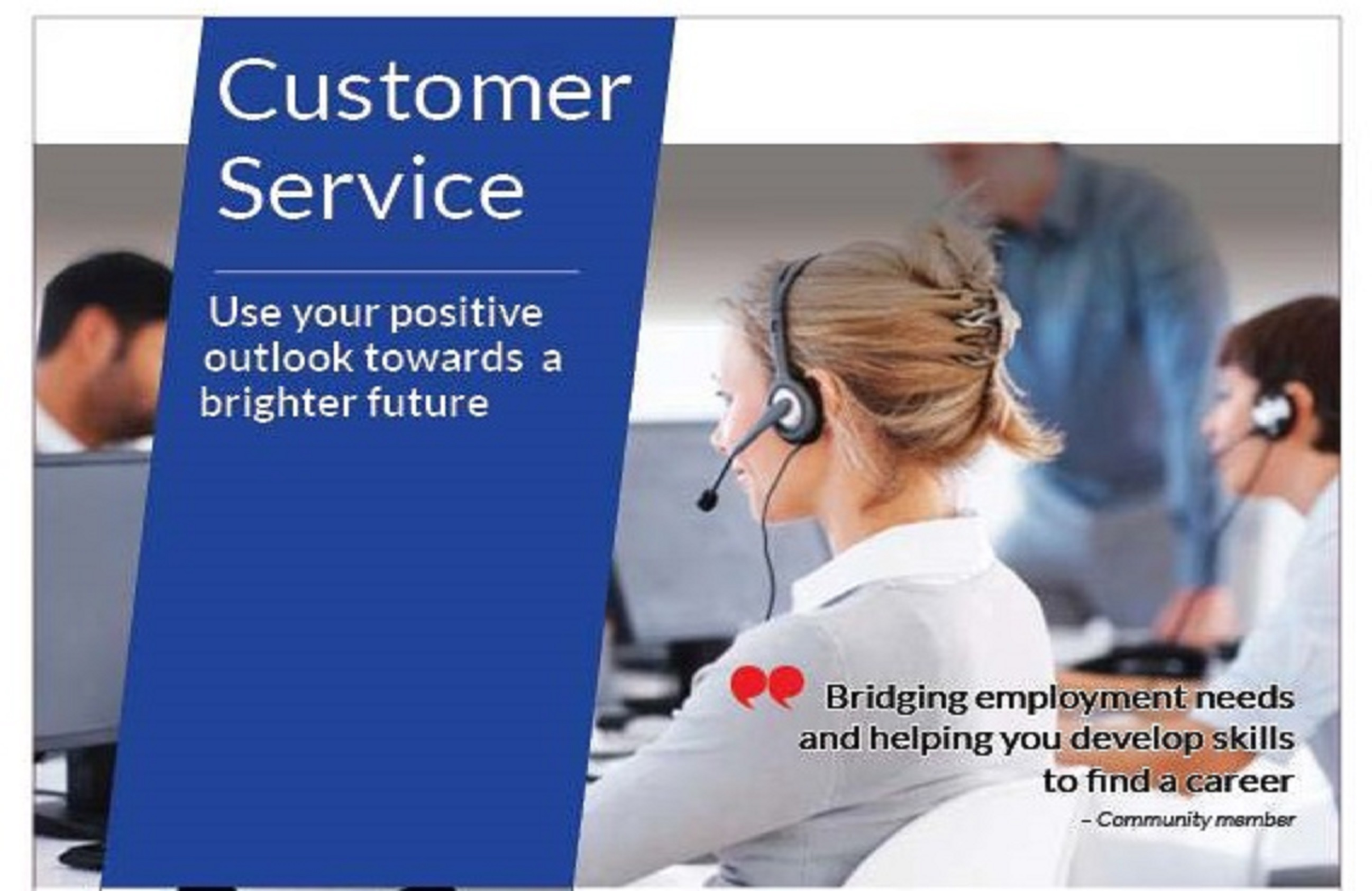 customer service job training program  classes start soon