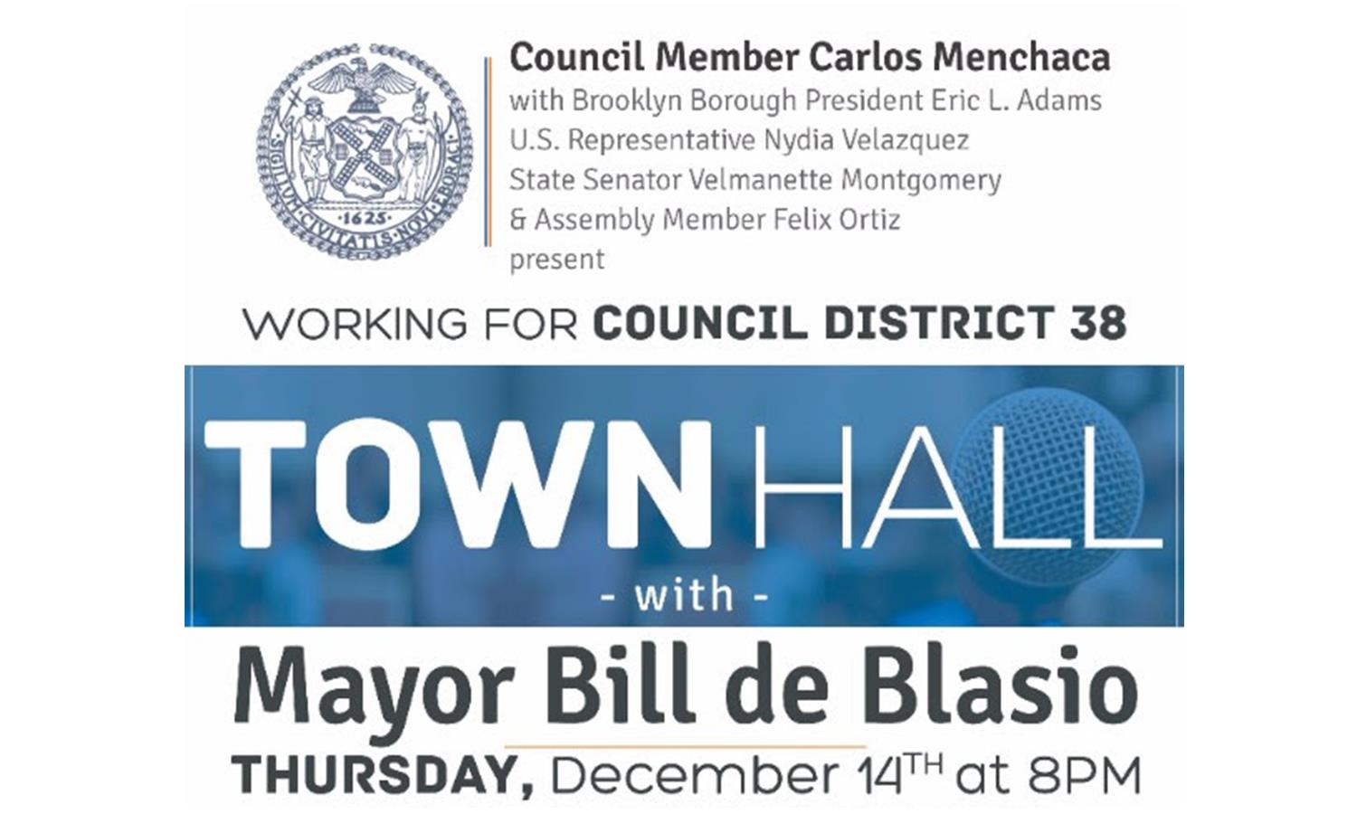 District 38 Townhall with Mayor de Blasio