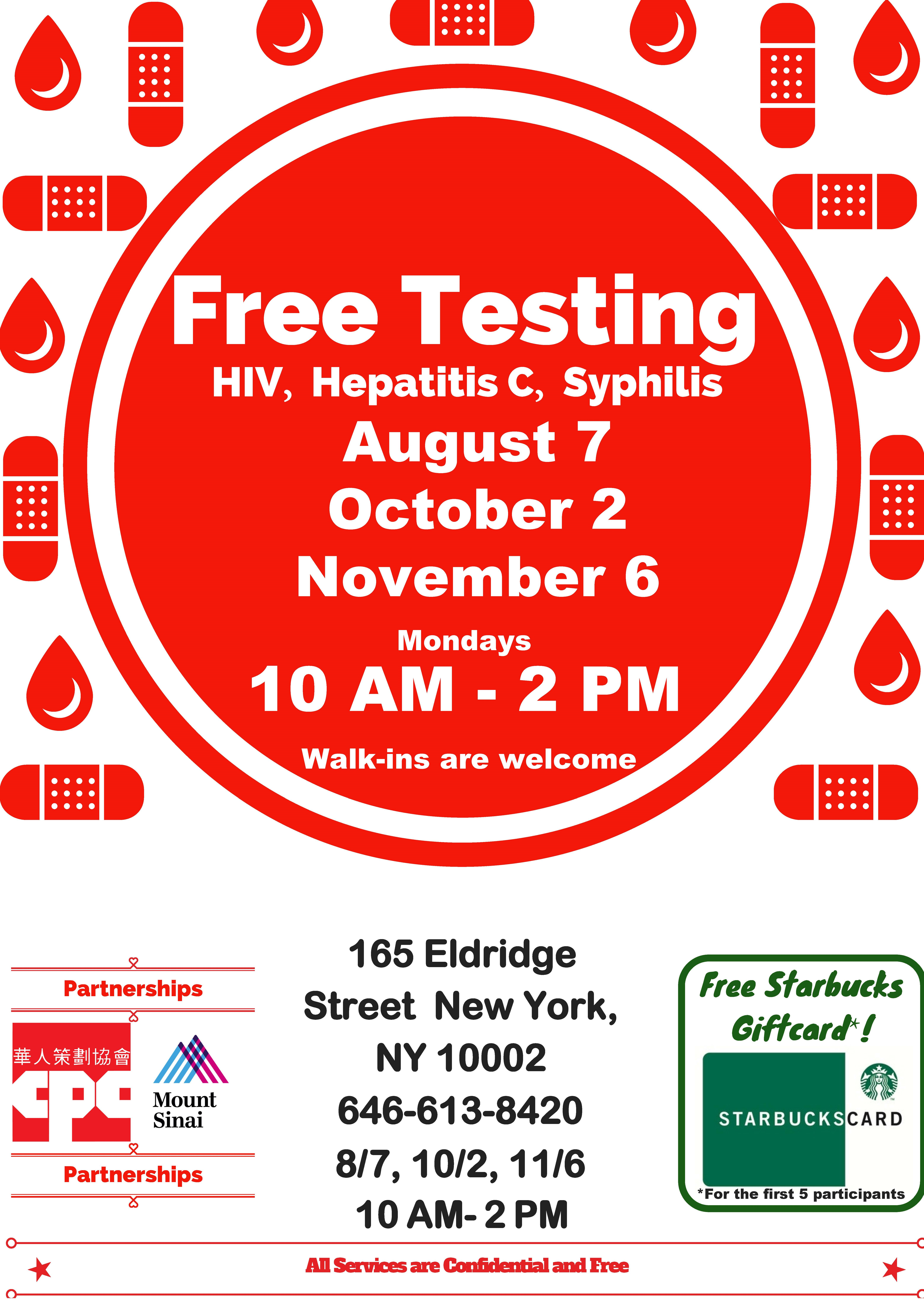 HIV/AIDS Services free HIV, Hepatitis C, and Syphilis Testing
