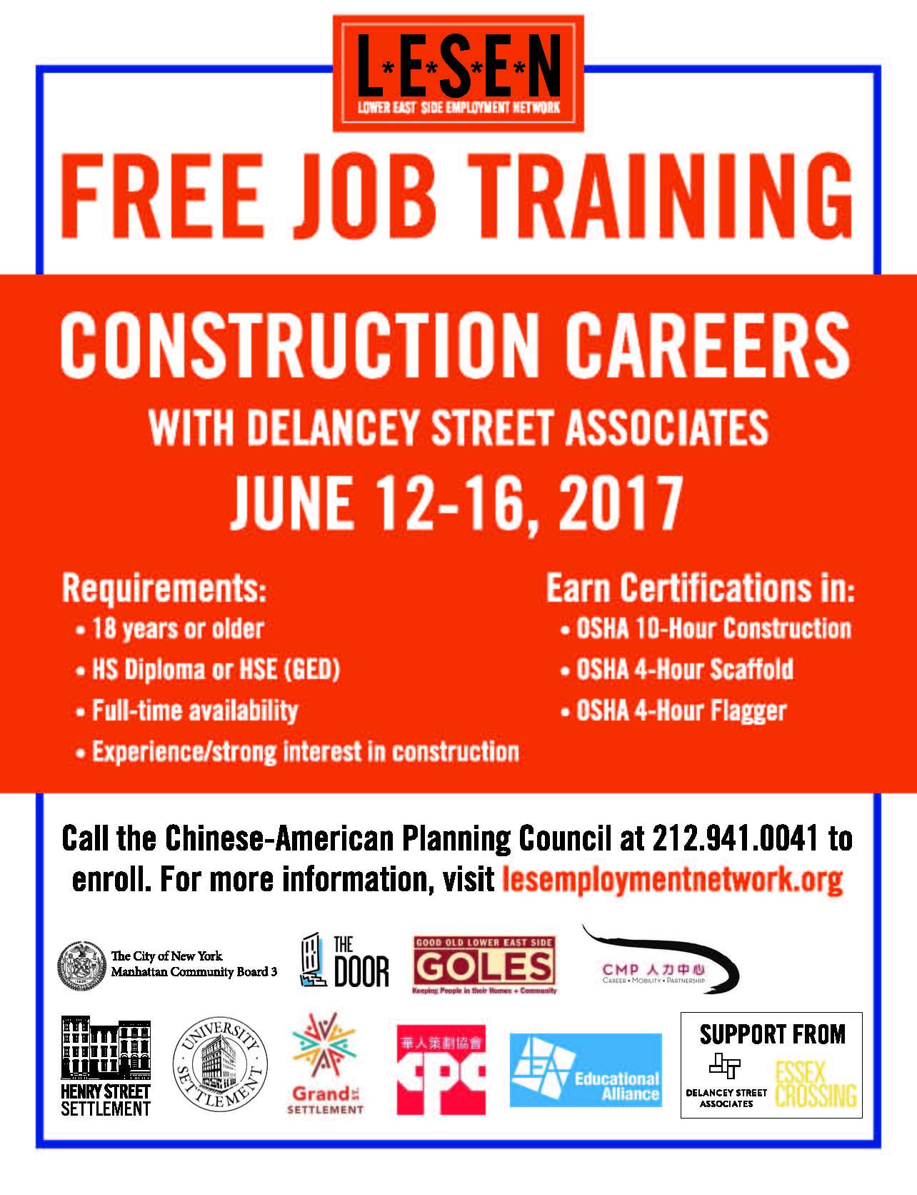 DSA-LESEN Construction Certifications Training Recruitment Event