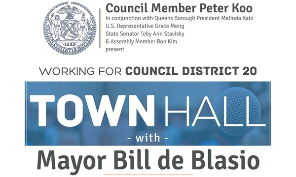 Town Hall with Mayor deBlasio - District 20