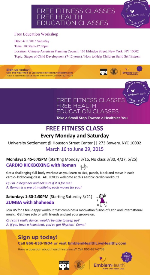 Free Weekly Fitness Classes