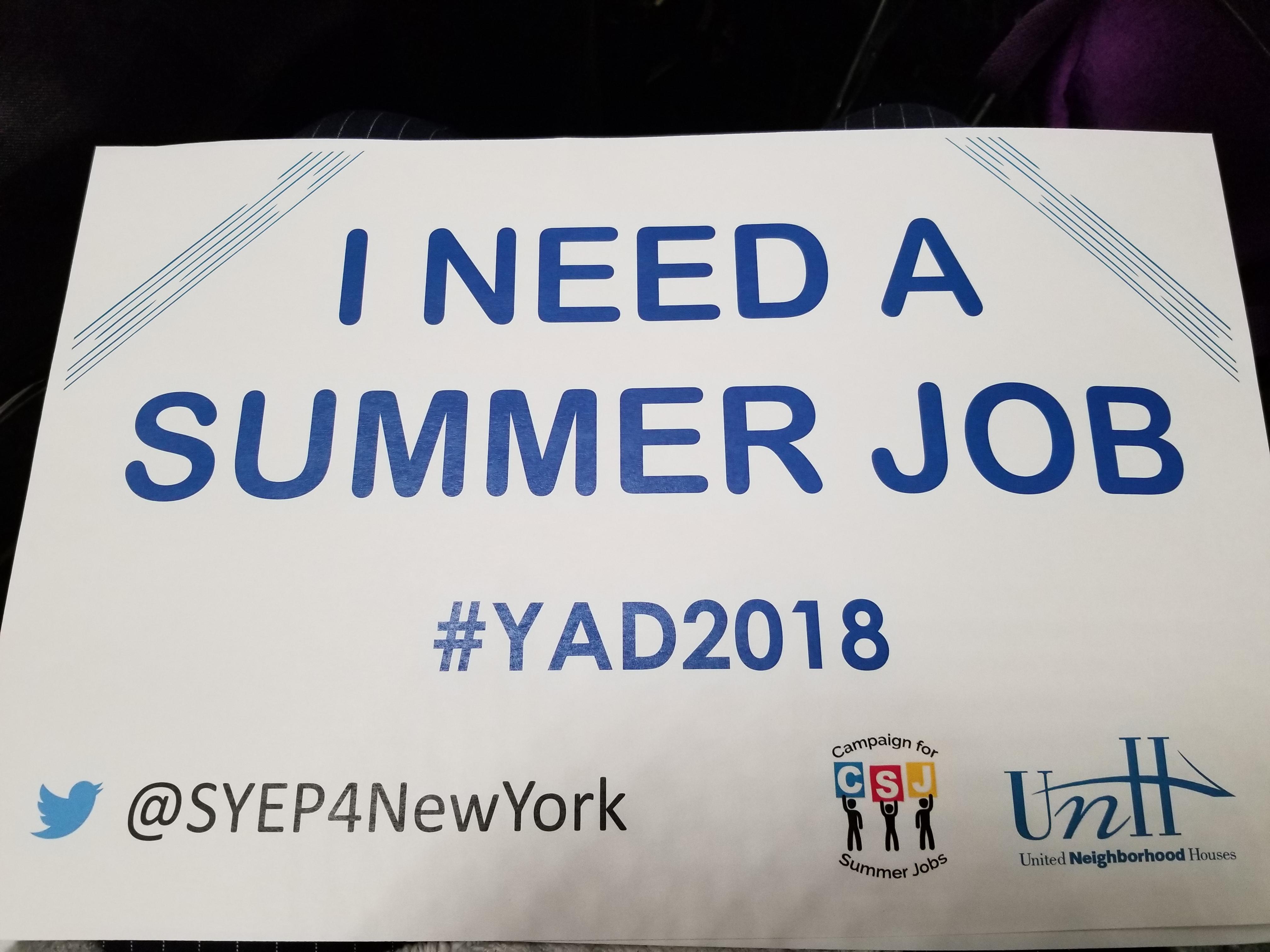 i need a summer job