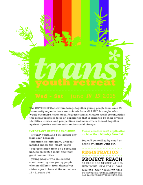 Project Reach - Trans Youth Retreat 2015