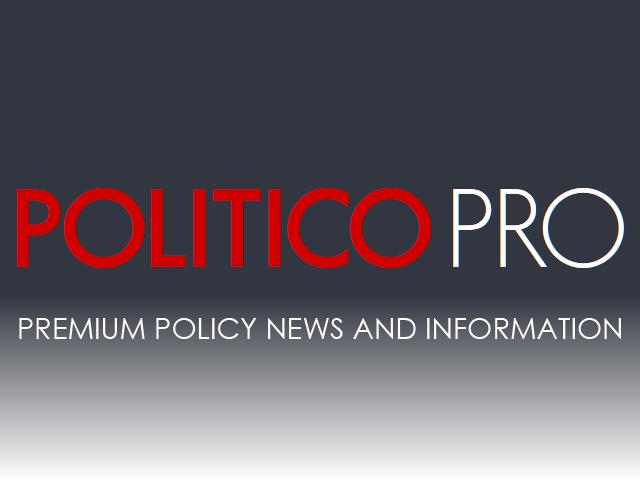 Politico Pro standard masthead logo