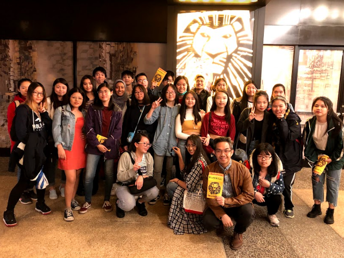 Learn.Dream.Advocate.Lead) at the High School for Dual Language and Asian Studies went to see the Lion King on Broadway over Spring Break