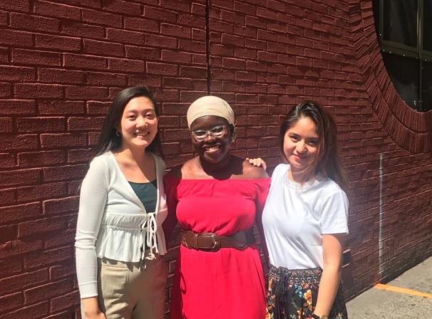 Peer Educators Joy Ling, Amanda Sowah, and Yeda Dayao