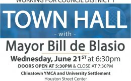 Working for Council District 1 Town Hall with Mayor de Blasio