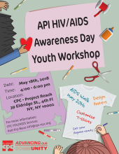 API HIV/AIDS Awareness Day Youth Workshop 亞太裔愛滋認知日青少年活動