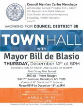 District 38 Townhall with Mayor de Blasio - English