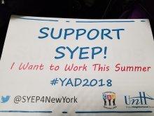 Banner, Support SYEP