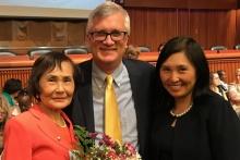 Po-Ling Ng, NYS Senator Brian Kavanagh, Betty Ng