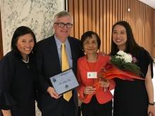 Betty Ng, NYS Senator Brian Kavanagh, Po-Ling Ng, NYS Assemblywoman Yuh-Line Niou