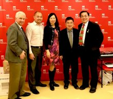 Councilman Peter Koo, Mr. Wayne Ho, CEO & President of CPC, Mr. and Mrs. Xian Qing Fu of the Fu Foundation and Mr. Michael Genovese from the Walter Kaner Foundation