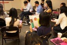 Sichuan Delegates listening to presentation
