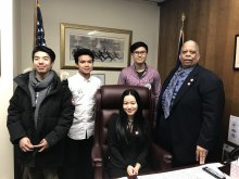 Picture with Senator Leroy Comrie