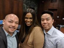 Wayne Ho, Fatima Balancier, and Brian Chen