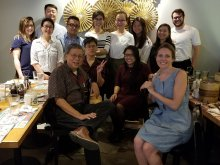Celebratory Intern Luncheon at Tim Ho Wan in the East Village with Summer Internship Program -- Supporter Dongju Chung (rear left) and Stakeholders