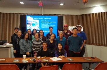 Wendy McKelvey of NYCDOHMH (7th from the left) and Regina Keenan of NYSDOH (4th from the right) with CPC youth after conducting a workshop on fish advisory