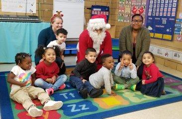 Participant group photo with Santa