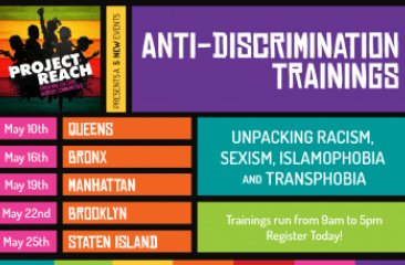Project Reach - May 2017 Anti-Discrimination Trainings In All Five Boroughs!