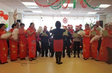Chorus at CPC Queens Special Needs Holiday Party 2017