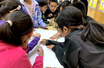 Students at PS130 During a Workshop on Sugary Drinks