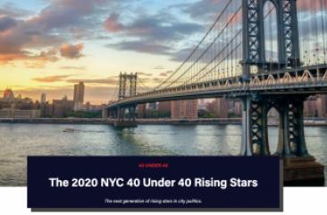 2020 NYC 40 Under 40 Rising Stars Banner