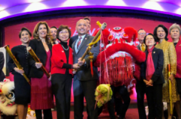 Leaders Sponsors and Officials Celebrated the Year of the Rat at Jing Fong