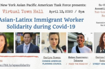 CPC's Chief Policy and Public Affairs Officer, Carlyn Cowen, spoke on Asian-Latinx immigrant worker solidarity