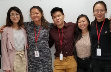 Summer Interns Group photo: Left to right: Vicky Zhong, Hannah Stiles, Welton Huang, Stephanie Chan, & Annie Chen